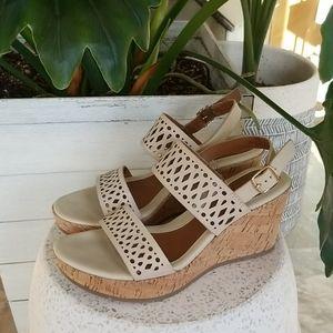Eurosoft Leather Platform Sandals